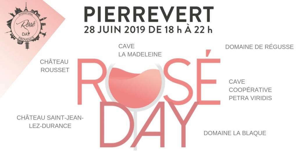 rosé day pierrevert 2019 affiche vins de haute provence