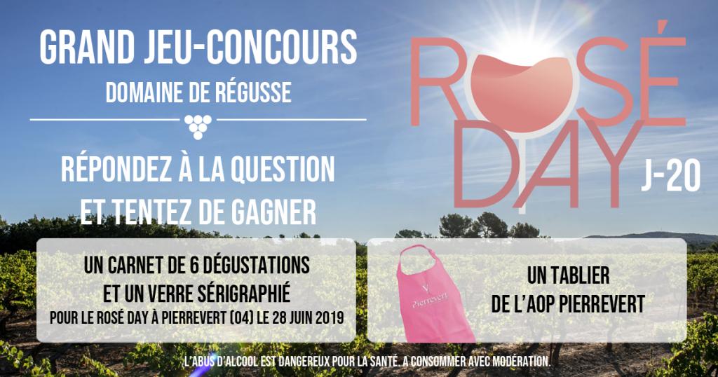 rosé day pierrevert jeux concours facebook quiz