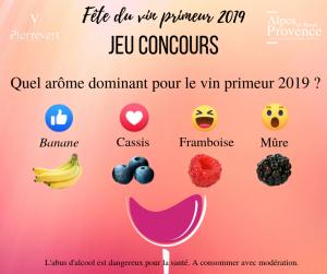 fête du vin primeur 2019 jeu concours facebook