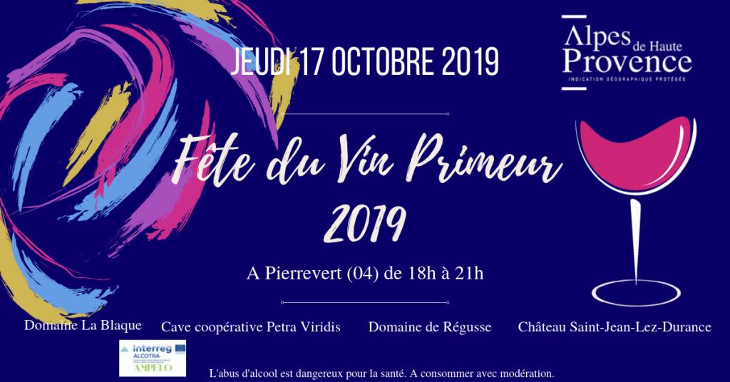 fête du vin primeur 2019 évènement facebook vins de haute provence